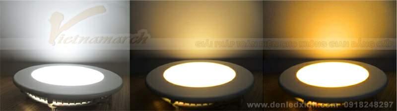 Đèn âm trần mỏng - 3 mầu