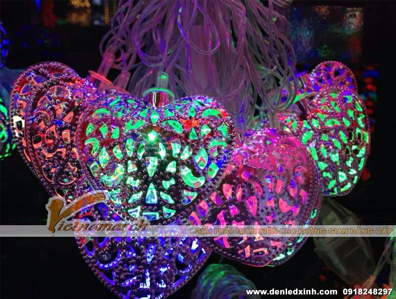 đèn trang trí hình trái tim