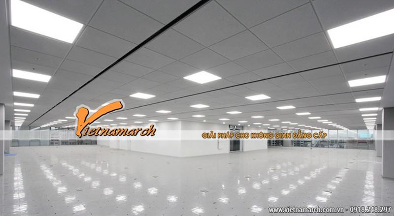 Đèn led panel 300×600 thường được lắp đặt trong các nhà xưởng