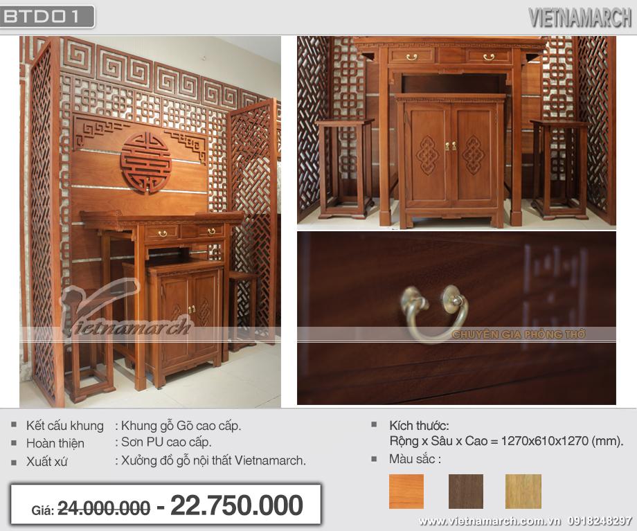 Mẫu bàn thờ đứng- sự lựa chọn hoàn hảo cho các căn hộ chung cư!