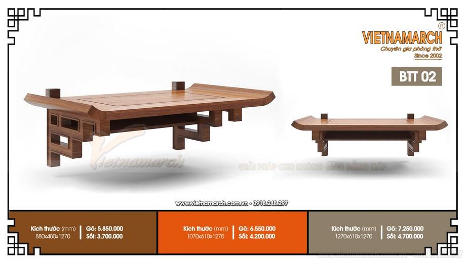 Mẫu bàn thờ treo tường đơn giản- phù hợp với mọi không gian sống!