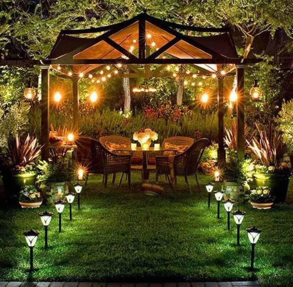 Đèn lED sân vườn kiểu dây