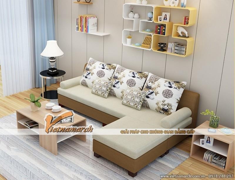 Mẫu sofa góc cho phòng khách nhỏ hẹp kiểu dáng đơn giản, hiện đại giá rẻ