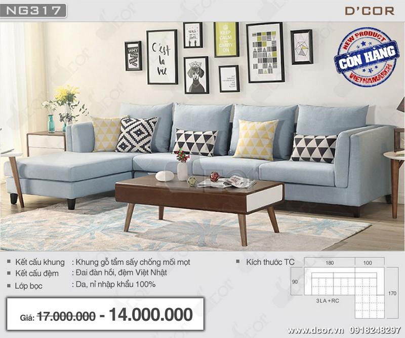 Những mẫu sofa góc cho phòng khách nhỏ tuyệt đẹp