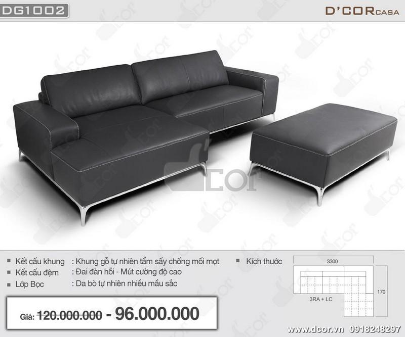 Mẫu sofa góc cho phòng khách nhỏ hẹp nhập khẩu Italia màu đen vô cùng sang trọng