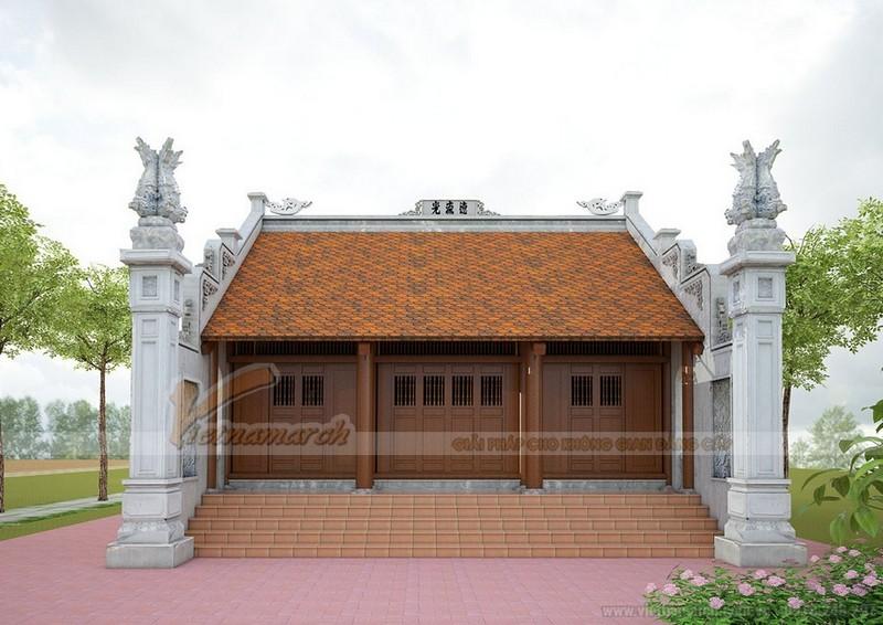Nhà thờ họ miền Bắc 3 gian 2 mái