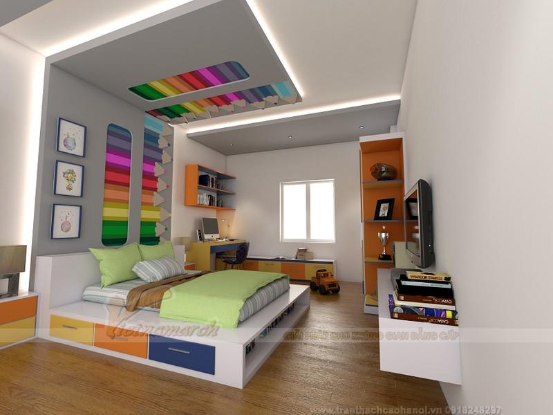 Trần thạch cao phòng ngủ bé trai