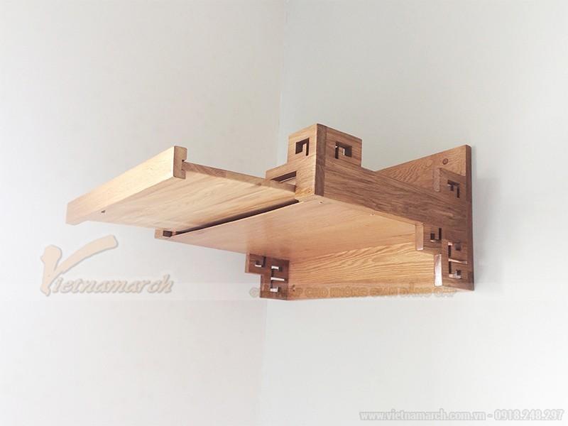 Bàn thờ treo tường có ngăn kéo gỗ sồi
