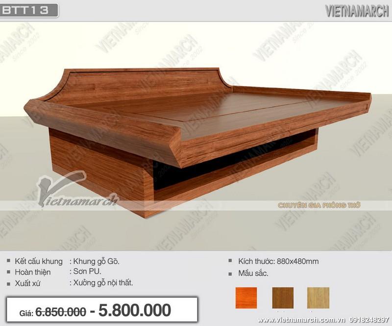 Bàn thờ treo tường khung gỗ gõ