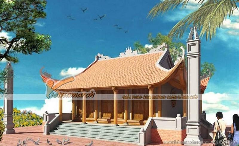 Nhà thờ họ Trần 3 gian 4 mái ở Nghi Xuân - Hà Tĩnh