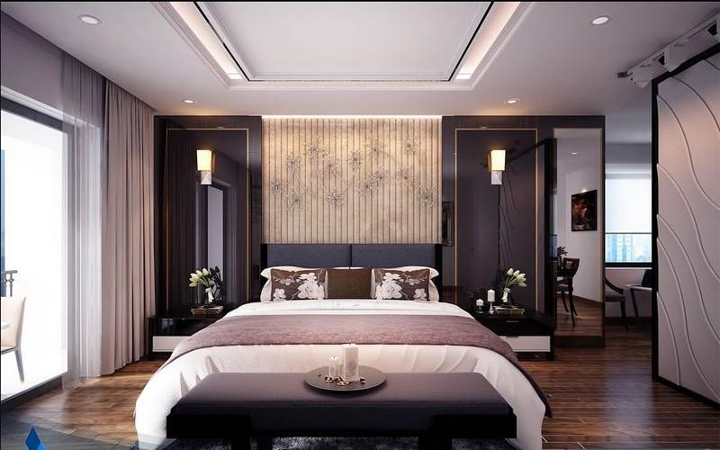 Mẫu trần thạch cao phòng ngủ nhà biệt thự