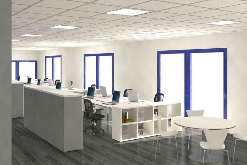 Mẫu thiết kế nội thất văn phòng phong cách tối giản