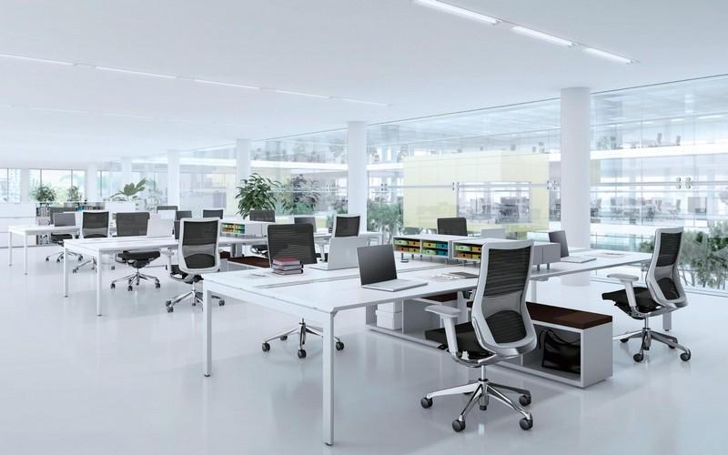 Mẫu thiết kế nội thất văn phòng tối giản, hiện đại
