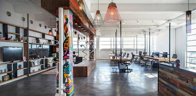 Mẫu thiết kế nội thất văn phòng phong cách công nghiệp hiện đại