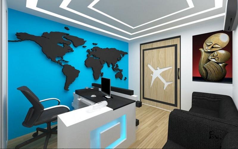 Mẫu thiết kế văn phòng du lịch đẹp