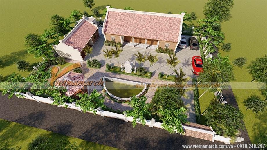 Mẫu thiết kế nhà thờ họ 5 gian 2 mái tại Thái Bình