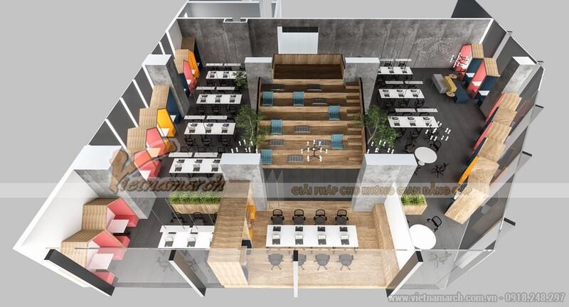 thiết kế văn phòng 20m2 1