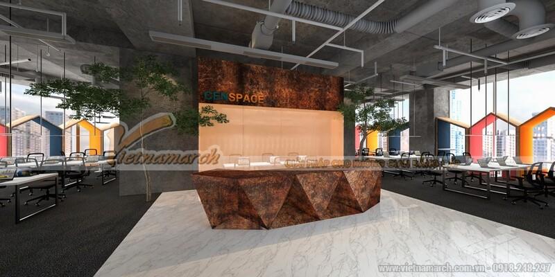 thiết kế văn phòng 30m2 1